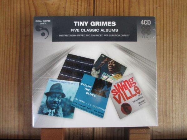 画像1: 今や入手困難!ジャンプ&ジャイブ系R&Bの黒いアーシーなフィーリングの強いギタリスト、タイニーグライムスの4枚組アルバム!■Tiny Grimes / Five Classic Albums (4CD) (1)